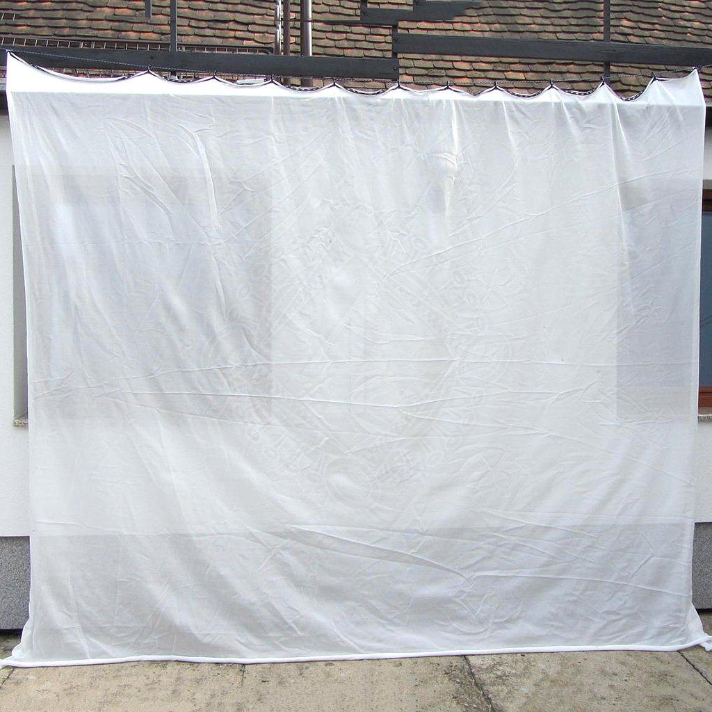 Bogensport Pfeilfangnetz weiß, 2,7m hoch   Outfit4Events