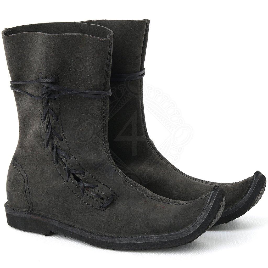 Mittelalterliche Schuhe für einfaches Volk