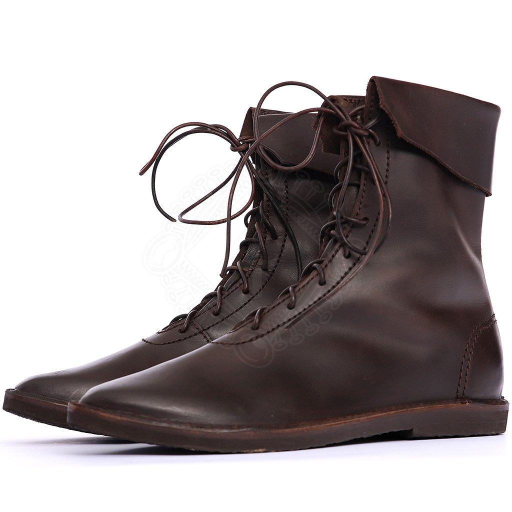 Mittelalter Schuhe mit umgeschlagener Stulpe