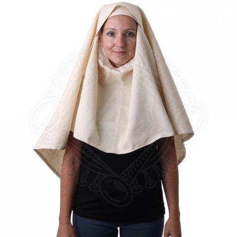 Mittelalter enge Haube mit Schleier, Kopfbedeckung für Damen, 14. Jh ...