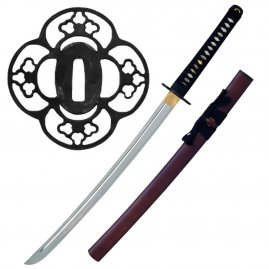 Red Wood Iaito Wakizashi von John Lee